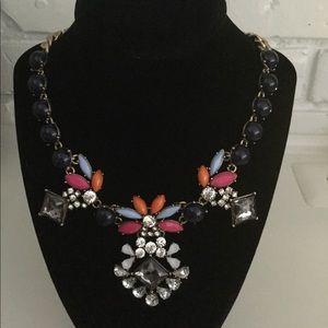 J.Crew chunky statement necklace multi colored